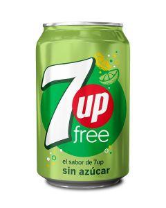 Refresco de lima-limón sin azúcar seven up free lata 33cl