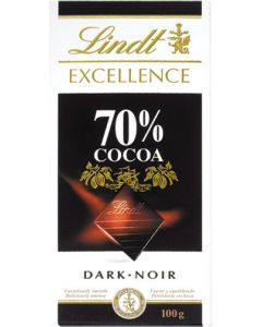 chocolate negro 70% cacao excellent lindt 100g
