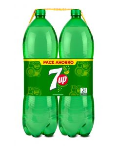 Refresco de lima-limón seven up botella pack de 2 unidades de 2l