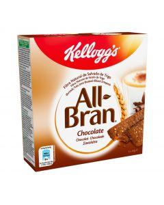 Barrita de fibra con chocolate all bran kelloggs pack de 6 unidades de 40g