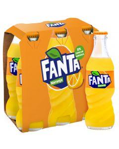 Refresco de naranja fanta botella pack de 6 unidades de 20cl