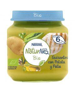 Tarrito bio de guisantes, patatas y pollo naturnes nestlé 200g