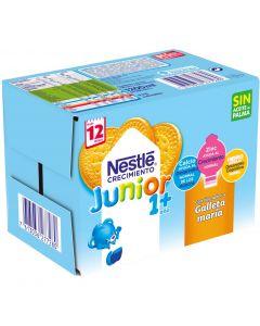 Leche líquida de crecimiento junior 1+ con galleta nestlé pack de 6 unidades de 200ml