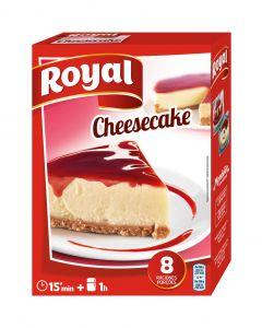 Preparado de tarta de queso con mermemlada de fresa royal 325g