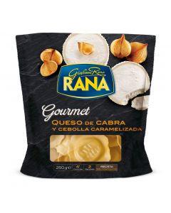 pasta fresca rellena de queso cabra y cebolla caramelizada rana 250g
