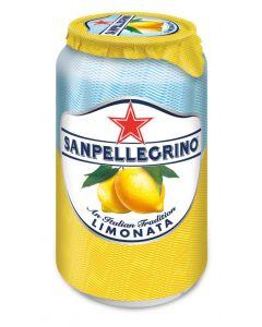 Agua mineral con gas limón san pellegrino lata 33cl