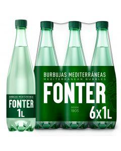 Agua mineral con gas fonter botella 1l