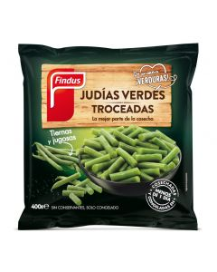 Judías verdes troceadas findus 400g
