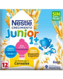 Leche líquida de crecimiento 1+ cereal nestlé 1l