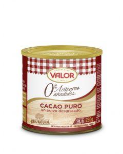 Cacao en polvo puro sin azúcar valor 250gr