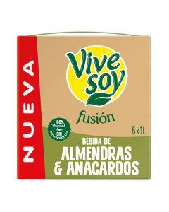 Bebida vegetal almendra y anacardos vivesoy brick 1l