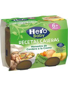 Tarrito de menestra de cordero hero receta casera pack de 2 unidades de 200g