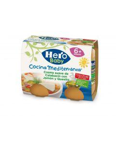 Tarrito de calabacín, jamón y queso hero cocina mediterránea pack de 2 unidades de 190g