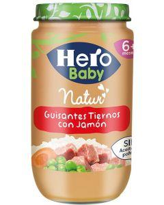 Tarrito de jamón y guisantes hero 235g