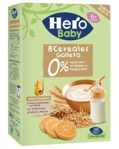 Papilla con cereales y galleta hero 500g