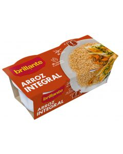 Arroz integral guarnicion brillante vaso pack de 2 unidades de 125g