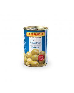 Aceituna rellena de anchoa suave española lata 130g