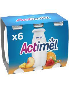 Bebida lactea multifrutas actimel pack de 6 unidades de 100g