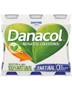 Bebida lactea natural danacol pack de 6 unidades de 100g