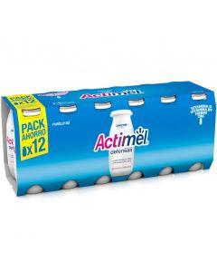 Bebida lactea natural actimel pack de 12 unidades de 100g
