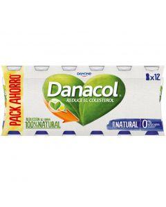 Bebida lactea natural danacol pack de 12 unidades de 100g