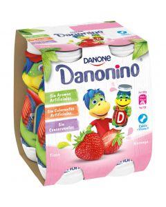 Petit bebedino fresa danonino pack de 4 unidades de 100g