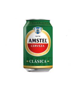 Cerveza clásica amstel lata 33cl