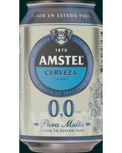 Cerveza sin alcohol amstel 0,0% lata 33cl