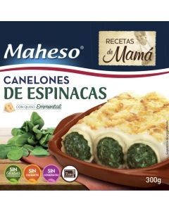 Canelones de espinacas con bechamel maheso 300g