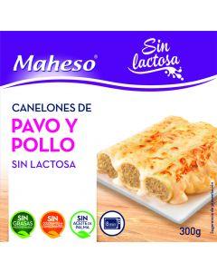 Canelones de pavo y pollo sin lactosa maheso 300g