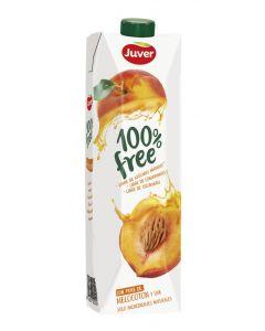 Zumo de melocotón sin azúcar juver 100% free brik 1l