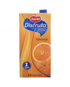 Néctar de naranja sin azúcar juver disfruta brik 2l