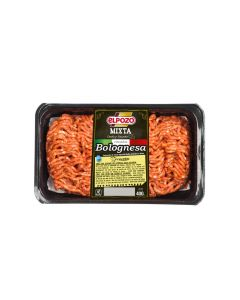 Carne picada boloñesa bandeja el pozo (aprox. 400g)