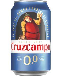 Cerveza sin alcohol cruzcampo 0,0% lata 33cl