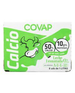 Leche con calcio desnatada covap brik 1l