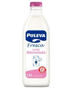 Leche fresca desnatada puleva botella 1,5l