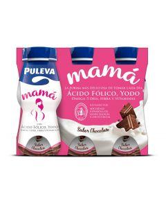 Batido de chocolate con ácido fólico y yodo puleva mama pack de 6 unidades de 100ml