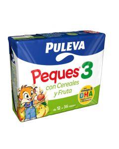 Leche líquida de con cereales y fruta puleva pack de 3 unidades de 200ml