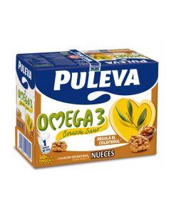 Leche con omega 3 nueces puleva brik 1l