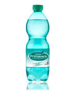 Agua mineral con gas fuente primavera botella 50cl