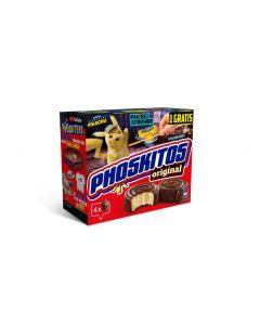 Bizcocho original chocolate phoskitos pack de 4 unidades de 160g