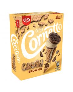 Helado cono choco crush vainilla cornetto p4x90ml