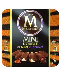 Helado bombón mini doble de chocolate y caramelo magnum frigo pack de 6 unidades de 60ml