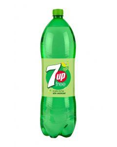 Refresco de lima-limón sin azúcar seven up free botella 2l