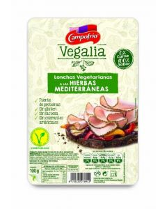 Lonchas vegetariana a las hierbas mediterraneas vegalia 100 gr