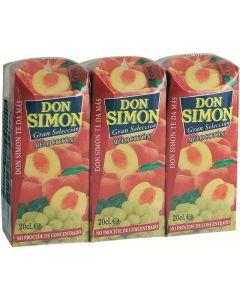 Zumo exprimido de melcotón y uva don simón pack de 3 unidades de 20cl