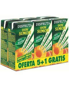 Néctar de melocotón sin azúcar disfruta don simón pack de 6 unidades de 20cl
