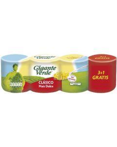 Maíz dulce gigante verde pack de 3 unidades de 420g