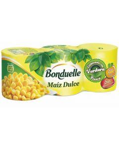 Maíz dulce bonduelle pack de 3 unidades de 140g
