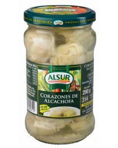 Corazones de alcachofa 15/20 alsur tarro 160g